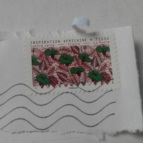 troc de  timbre tissu africain oblitéré, sur mytroc