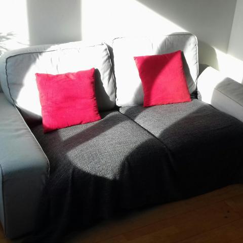 troc de  Canapé gris clair IKEA - 2 places, sur mytroc