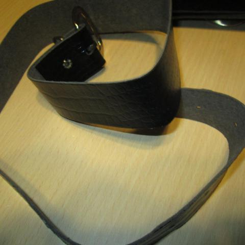troc de  ceinture noir 85 cm 3 noisettes, sur mytroc