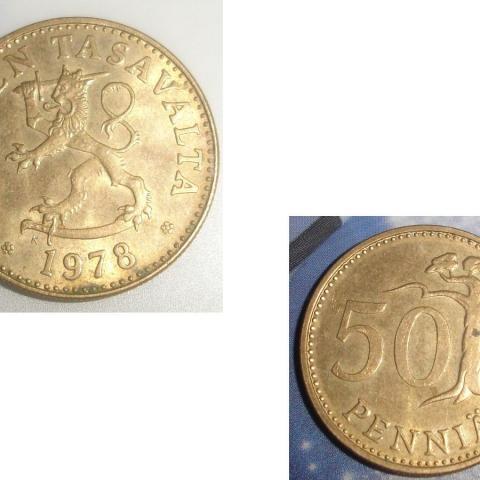 troc de  Pièce monnaie Finlande Suomen Tasavalta 50 PENNIÄ de 1978, sur mytroc