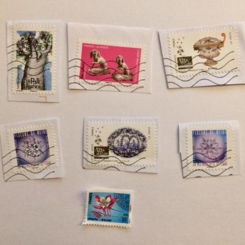 troc de  Lot 7 timbres français oblitérés, sur mytroc