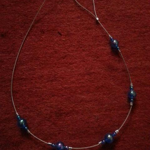 troc de  (Réservé) Embrasse de rideau artisanale bleue, sur mytroc