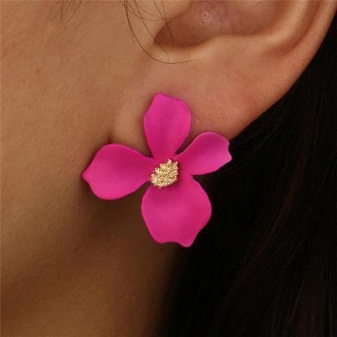 """troc de  boucles d'oreilles """"  fleurs de Bohème """" rose, sur mytroc"""
