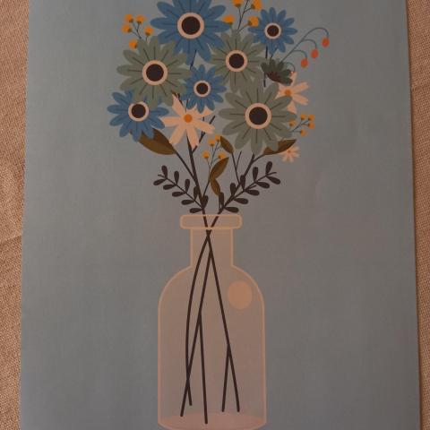"""troc de  Affiche """"Bouquet de fleurs""""., sur mytroc"""