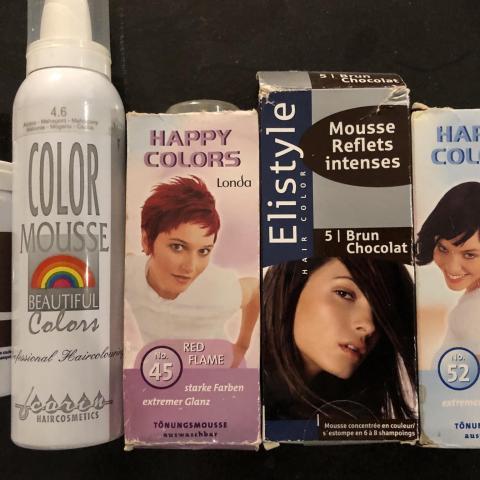 troc de  mousse colorante temporaire  pour cheveux, sur mytroc