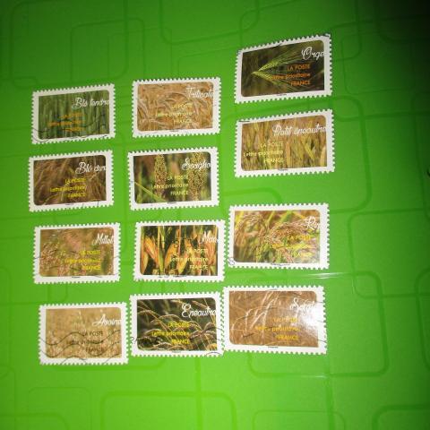 troc de  12 timbres céréales, sur mytroc