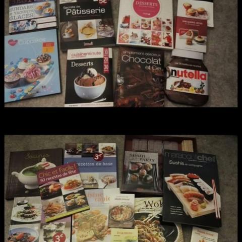 troc de  Lot livres de cuisines salé sucré, sur mytroc