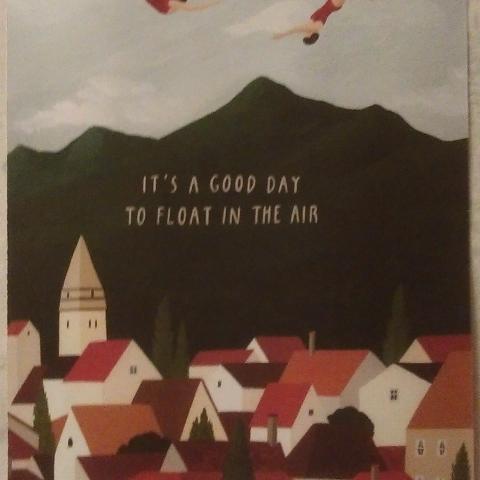 """troc de  Affiche """"It's a good day to float in the air""""., sur mytroc"""