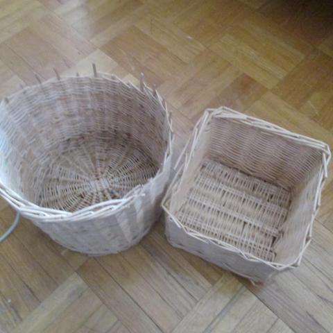 troc de  2 panieres en osier à customiser, sur mytroc