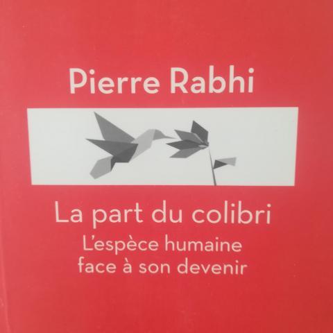 troc de  Livre La Part du colibri Pierre Rhabi, sur mytroc