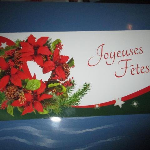 troc de  carte double neuve joyeuses fêtes couronne, sur mytroc