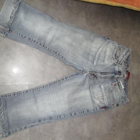 troc de  pantacourt 16 ans en jeans 5 noisettes, sur mytroc