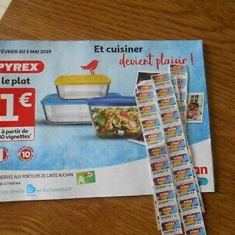 troc de  RECHERCHE Vignettes Pyrex Auchan, sur mytroc