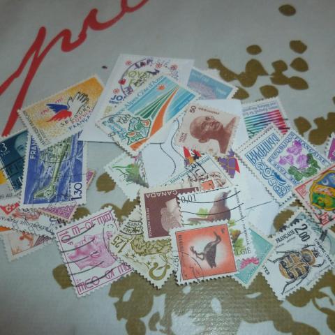 troc de  RESERVE - Lot de 50 timbres, sur mytroc