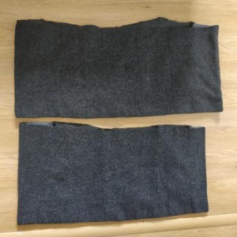 troc de  Chutes de tissu Une face type tissu épais effet laine gris, sur mytroc
