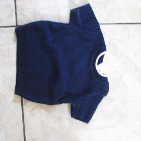 troc de  pull bleu marine 3 mois m courtes 2 noisettes, sur mytroc