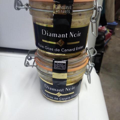 troc de  2 pots de foie gras entier de canard 4/5 part., sur mytroc