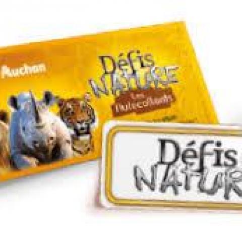 troc de  Cartes Auchan / Défis Nature - 2 Noisettes les 5 Cartes, sur mytroc