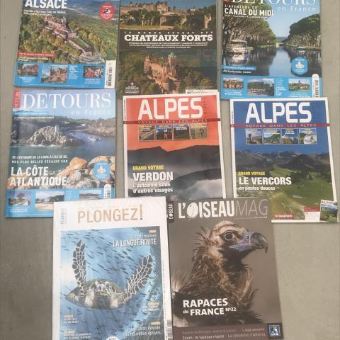 Lot de 8 magazines paysage et nature