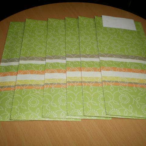 troc de  Lot 6 pochettes à couverts neufs avec serviette, sur mytroc