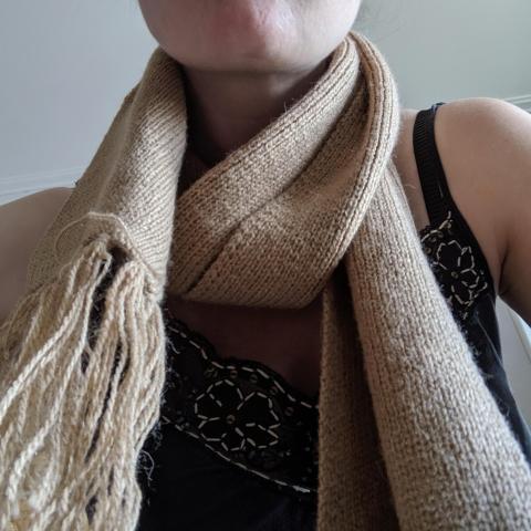 troc de  Écharpe beige laine, sur mytroc