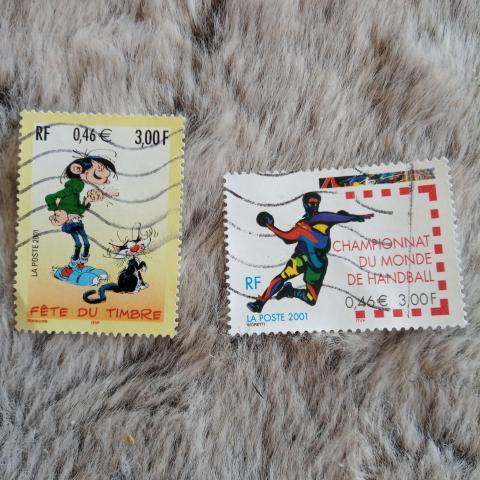 troc de  Réservé Lot timbres année 2001, sur mytroc