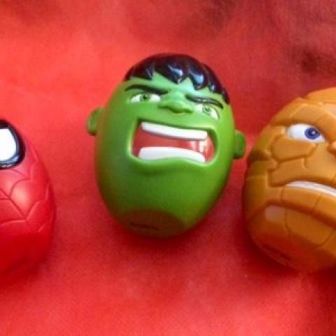troc de  Lot de 3 œufs interactifs Marvel - Silvertit, sur mytroc