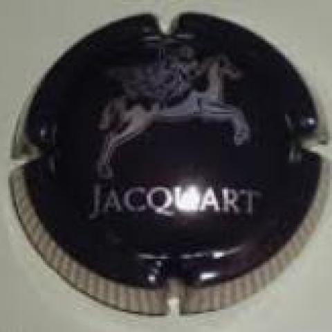troc de  Capsule Champagne Jacquart Noir et Or Contour Strié, sur mytroc