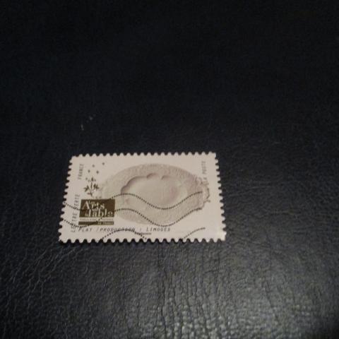 troc de  timbre art de la table : plat limoges, sur mytroc