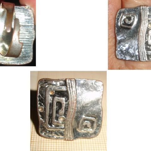 troc de  Rés. à 1977CoCo le 14/01/2021 >BAGUE en métal  chromé de forme carrée pour création..., sur mytroc