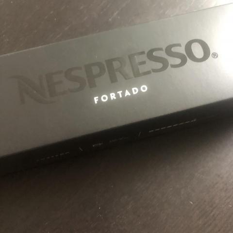 troc de  Barrette capsules nespresso VERTUO Fortado neuve 150 ml, sur mytroc