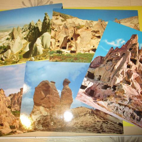 troc de  5 cartes postales neuves cappadocce Turquie, sur mytroc