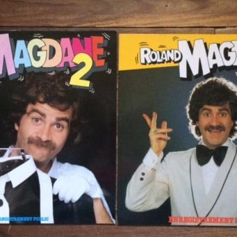 troc de  Lot 2 LP Vinyles 33T - Roland Magdane 1&2 - originaux 1980/1981, sur mytroc
