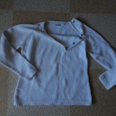 troc de  pull coton blanc, sur mytroc