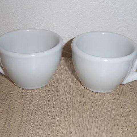 troc de  2 tasses café tbe genre bistrot, sur mytroc