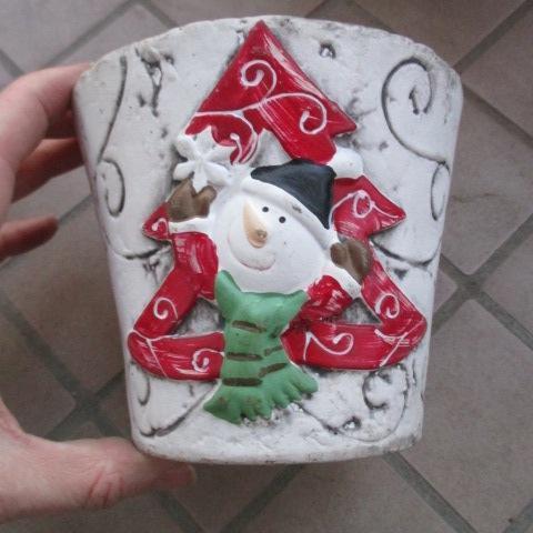 troc de  Pot de noel pour plantes bonhomme de neige, sur mytroc