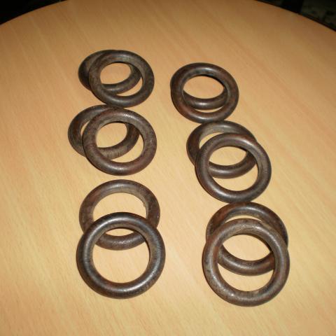 troc de  2 éme lot de 12 anneaux bois, sur mytroc