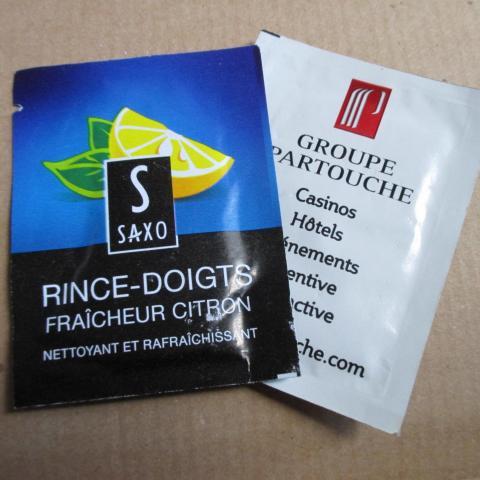 troc de  Lingette rince doigts, sur mytroc