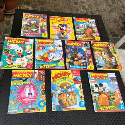 10 Magazines Le Journal de Mickey