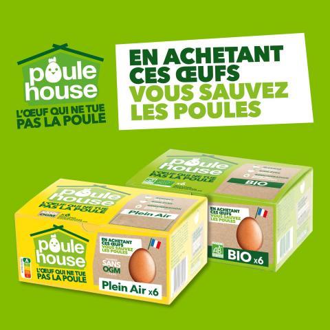 *EPUISE* Boîte de 6 œufs plein-air Poulehouse
