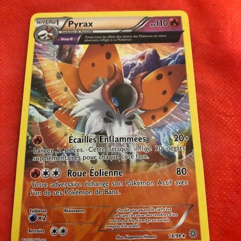 troc de  Carte Pokémon Pyrax (18/98) édition 2015  Très bon état, sur mytroc