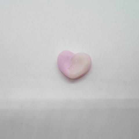 troc de  Petit cabochon coeur bicolore en fimo, sur mytroc