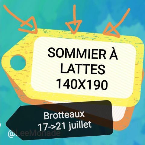 troc de  Sommier à lattes 140x190, sur mytroc