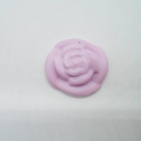 troc de  1 fleur en fimo taille moyenne rose, sur mytroc