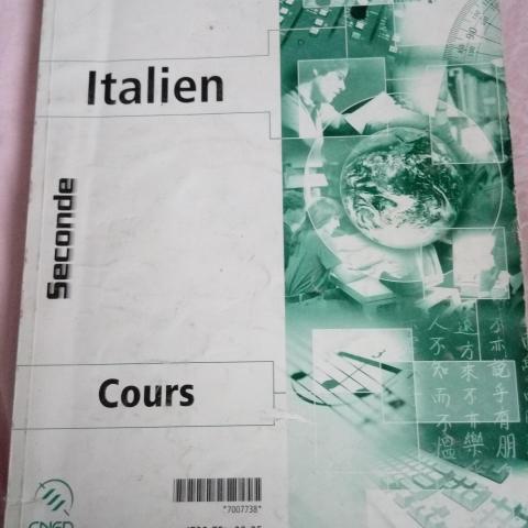 troc de  Cours italien CNED niveau seconde, sur mytroc