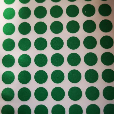 troc de  1 Plaque de petites gommettes vertes, sur mytroc