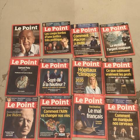 troc de  Lot de 12 magazines Le Point, sur mytroc
