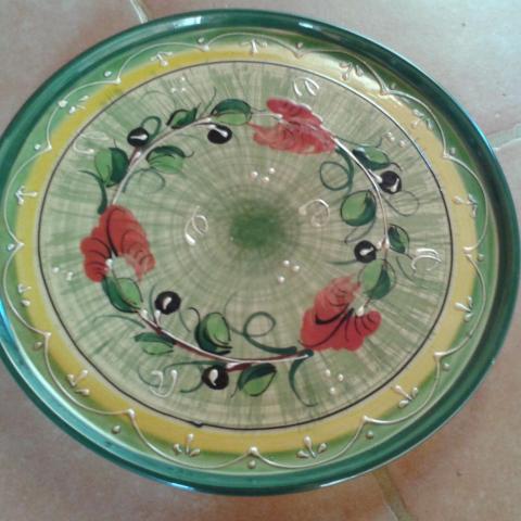 troc de  Grand plat à gâteau plat coloré, sur mytroc