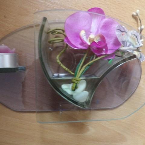 troc de  bibelot avec bougie et fleur tissu très bon état, sur mytroc