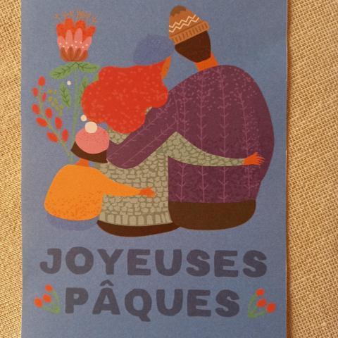"""troc de  Carte recto/verso """"Joyeuses Pâques""""., sur mytroc"""
